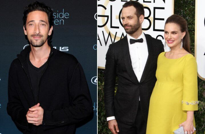 Adrien Brody, Natalie Portman and Benjamin Milpier. Famous Jews. Actors and other celebrities.