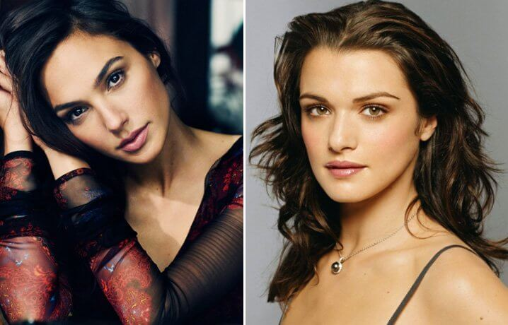Gal Gadot and Rachel Weisz. Famous Jews. Actors and other celebrities.