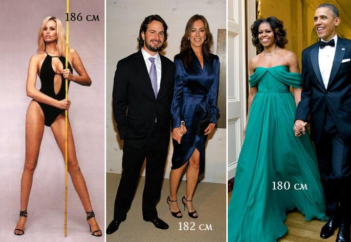 модель Адриана Скленарикова, Кэтрин Бигелоу и Мишель Обама. самые высокие знаменитости.