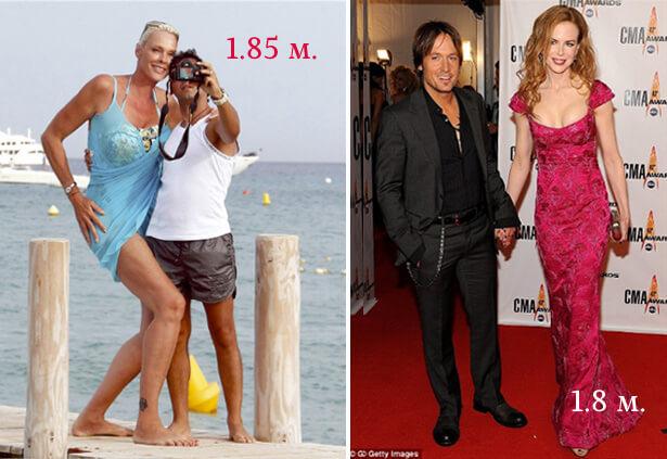 Бриджит Нильсен и Николь Кидман.. самые высокие актрисы.