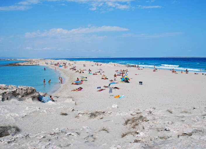 Playa de Ses Illetes, Formentera, Spain. The Best beautiful Beach in the world 2017