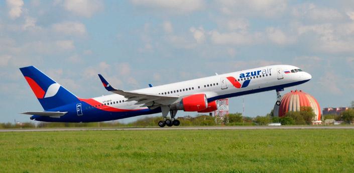 Azur Air. лучшие авиакомпании России.