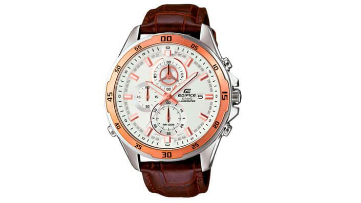 Casio Edifice EFR-547L-7A с хронографом. Лучшие наручные мужские часы 2017.
