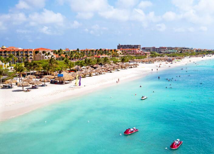 Пляж Eagle Beach (Игл Бич) в Арубе. Лучшие пляжи мира.