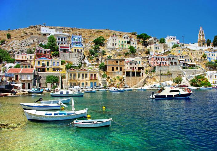 Греческий остров. лучший климат.