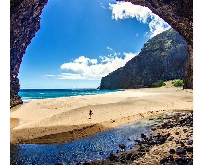 Пляж Honopu Beach, Гаваи. Лучшие пляжи мира.