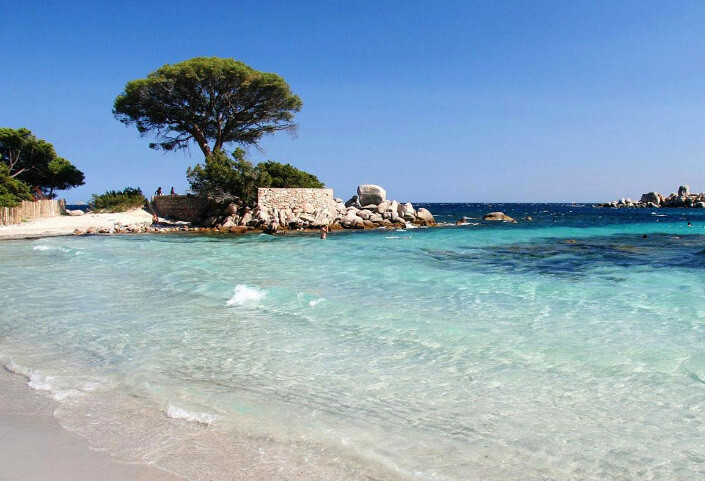 Pinarello beach, Corsica. The Best beautiful Beach in the world 2017