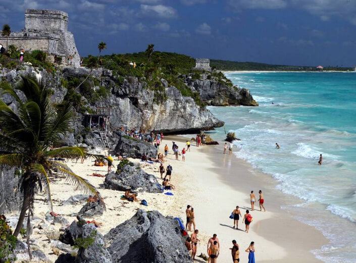 Playa Paraiso или Tulum beach, Мексика. Лучшие пляжи мира.