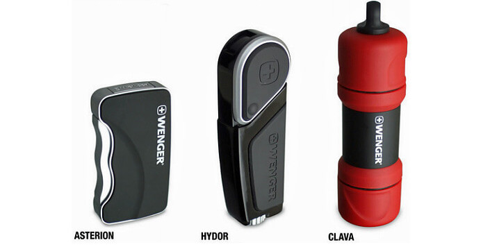 Wenger Asterion, Hydor и Clava зажигалки.