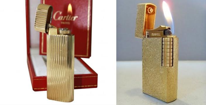 Зажигалки Cartier и Dunhill
