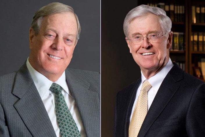 Чарльз и Дэвид Кох. Самые богатые люди 2017 (рейтинг Форбс)