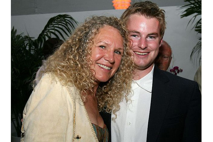 Christy Walton with son. The richest woman in the world. The rating of Forbes 2017.