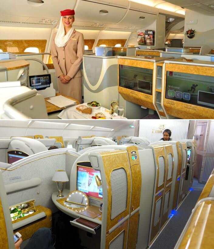 Emirates бизнес класс. Лучшие авиакомпании мира 2017. Рейтинг авиакомпаний