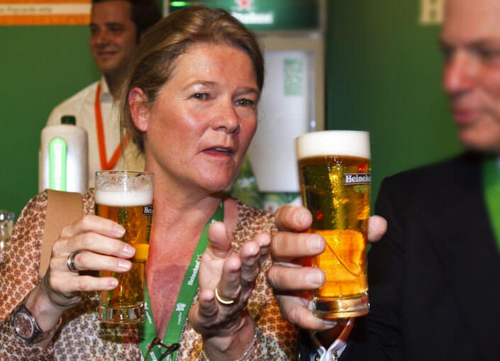 Charlene de Carvalho-Heineken. The richest woman in the world. The rating of Forbes 2017.