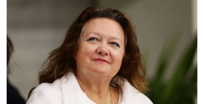 Gina Rinehart. The richest woman in the world. The rating of Forbes 2017.