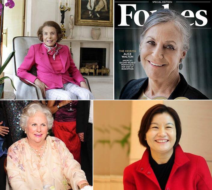 Самая богатая женщина мира. Рейтинг Форбс 2017.