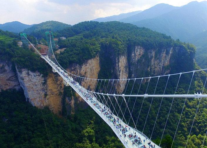 Zhangjiajie park bridge, central China's Hunan province.