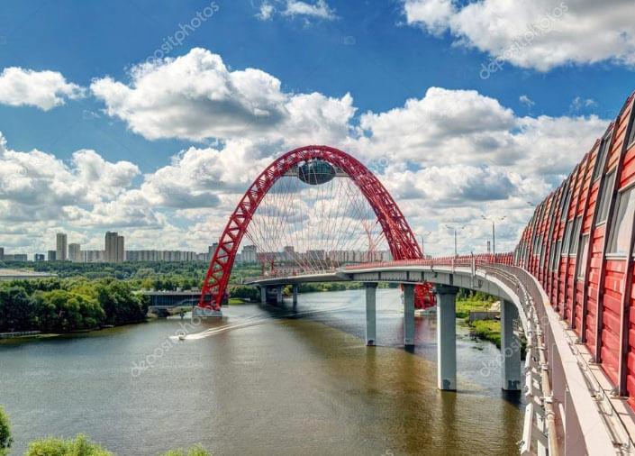 Живописный мост – самый высокий в Москве