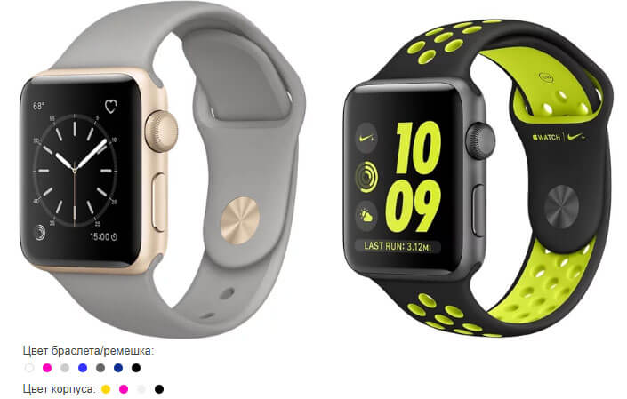 Apple Watch Series with Sport Band лучшие смарт часы 2017