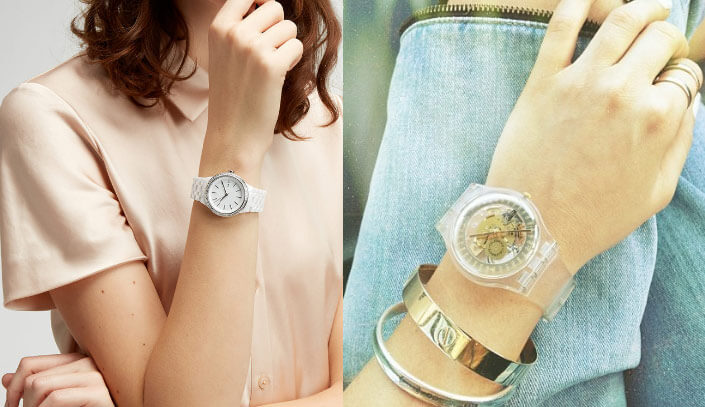 woman hand watch style