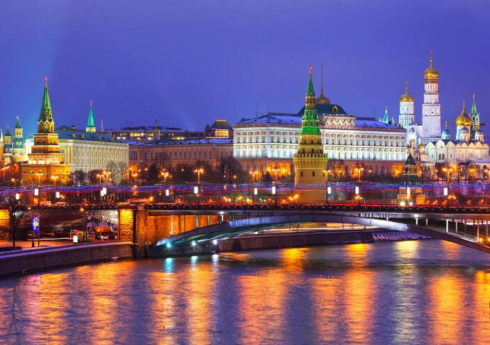 Вечерняя Москва, Самые красивые места России