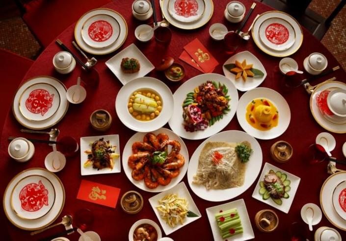 сервировка китайского новогоднего стола
