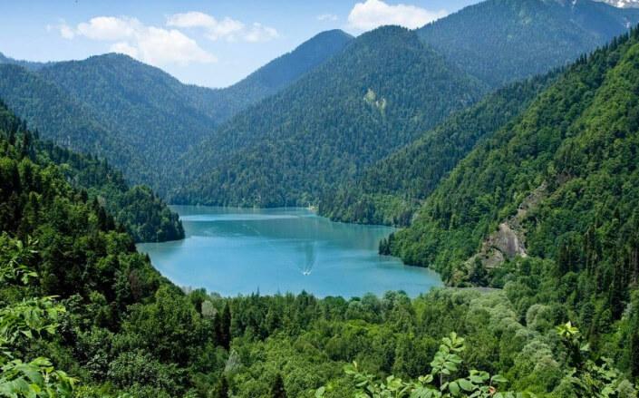 Абхазия. Озеро Рица, Самые красивые места России