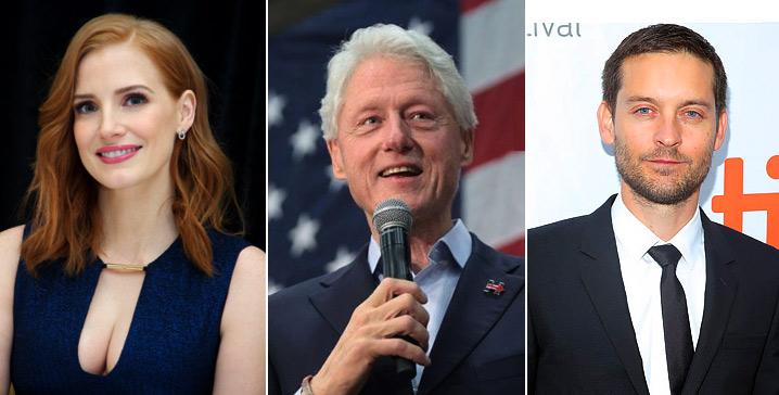 Джессика Честейн (Jessica Chastain), Билл Клинтон (Bill Clinton), Тоби Магуайр (Tobey Maguire),  известные вегетарианцы актеры и певцы