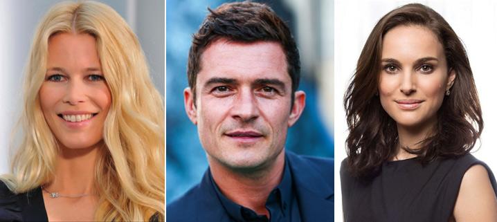 Клаудия Шиффер (Claudia Schiffer), Орландо Блюм (Orlando Jonathan Blanchard Bloom), Натали Портман (Natalie Portman), Звезды вегетарианцы знаменитости актеры