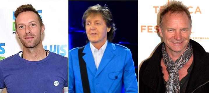 Крис Мартин (Christopher Anthony Martin), Пол Маккартни (James Paul McCartney), Стинг (Gordon Matthew Thomas Sumner), Звезды вегетарианцы знаменитости актеры