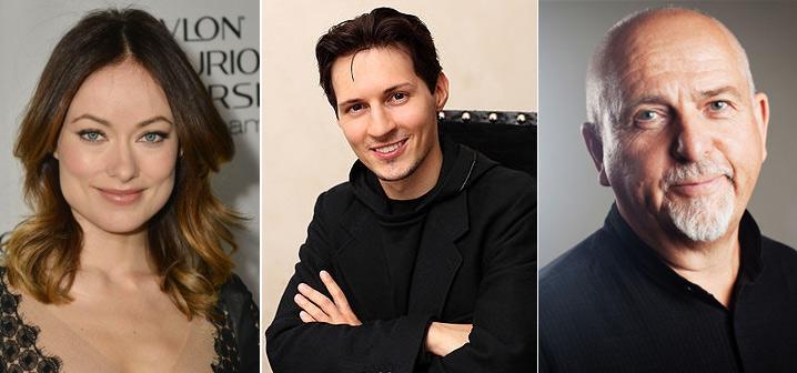Оливия Уайлд (Olivia Wilde), Павел Дуров (Pavel Valeryevich Durov), Питер Гэбриэл. Звезды вегетарианцы знаменитости актеры