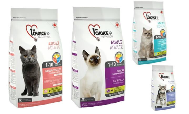 1st Choice INDOOR VITALITY. Лучшие сухие корма для кошек.