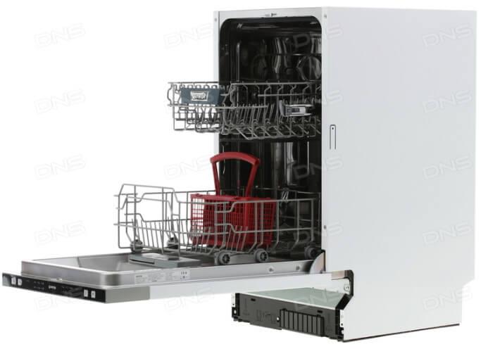 Gorenje GV51212. Лучшая встраиваемая посудомоечная машина 45см