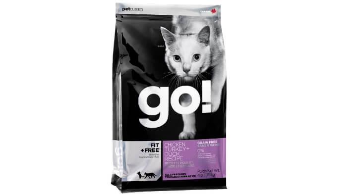 GO! Fit + Free Grain Free Cat Recipe. Лучшие сухие корма для кошек.