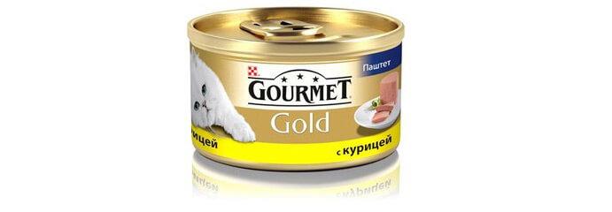 Корм Gourmet Gold Паштет с курицей. Рейтинг влажных кормов для кошек 2017 - 2018