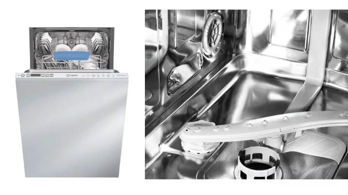 Indesit DISR 57H96 Z. Лучшая встраиваемая посудомоечная машина 45см