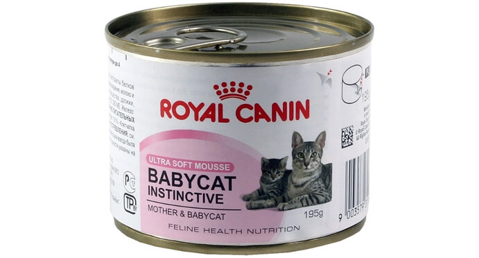 Royal Canin Babycat Instinctive canned. Рейтинг влажных кормов для кошек 2017 - 2018