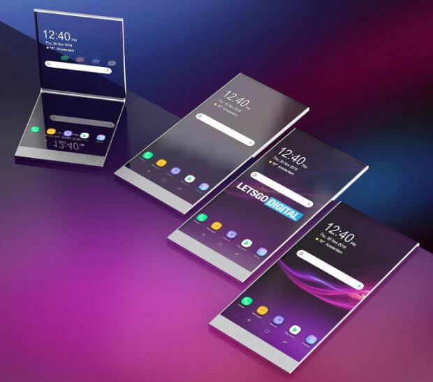 концепция компактного прозрачного смартфона от Sony