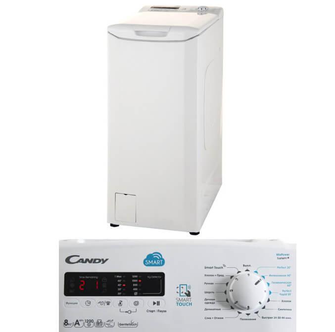 Candy CST G282DM/1-07 Лучшие стиральные машины с вертикальной загрузкой 2018.