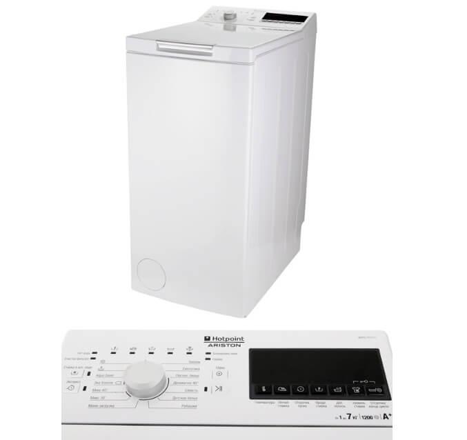 Hotpoint-Ariston WMTG 722 H C CIS. Лучшие стиральные машины с вертикальной загрузкой 2018.