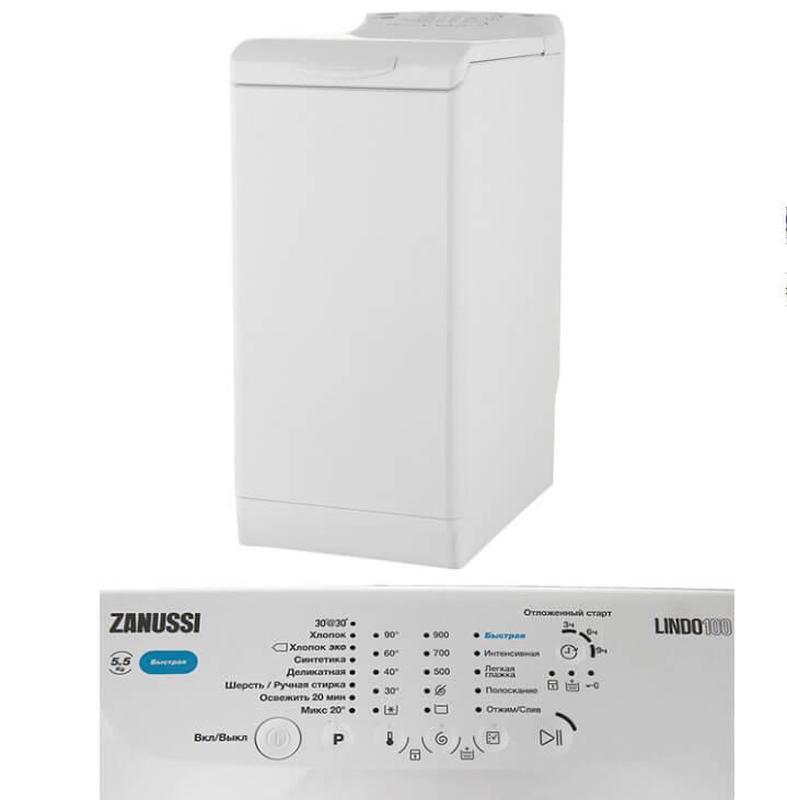 Zanussi ZWY50924WI. Лучшие стиральные машины с вертикальной загрузкой 2018.