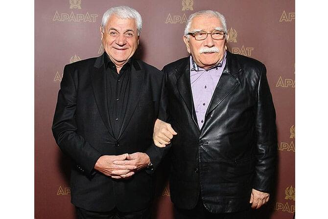 Джива́н Гаспаря́н и Армен Джигарханян. Известные армяне