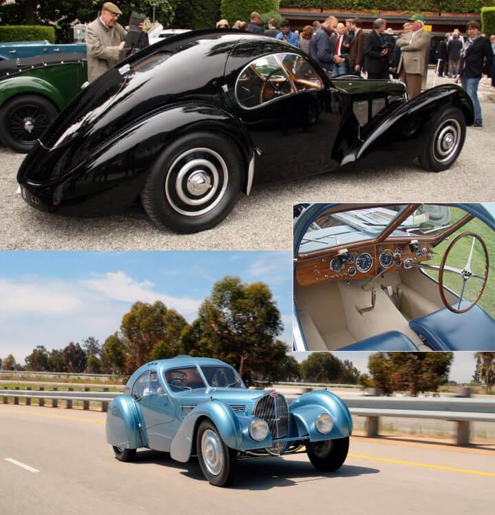 1936 Bugatti Type 57SC Atlantic - самый дорогой ретро автомобиль Самые красивые машины