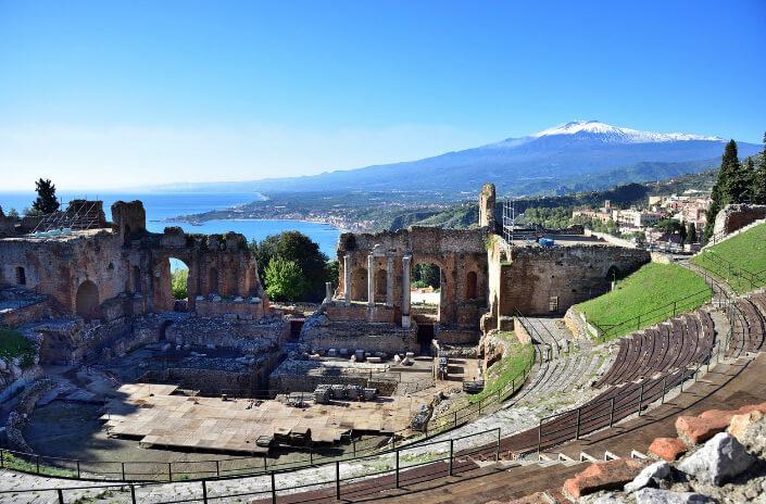 Taormina / Таормина, самые красивые города Италии