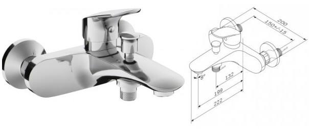 AM.PM Like F8010000, Лучшие смесители для ванной комнаты.