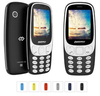 Digma LINX N331 2G, Кнопочные телефоны 2018