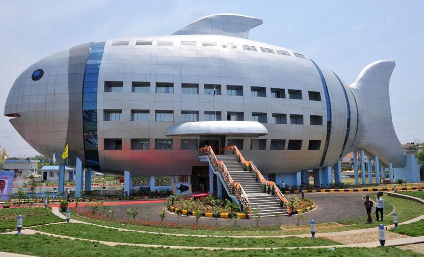 Дом – рыба. The Fish Building, Индия