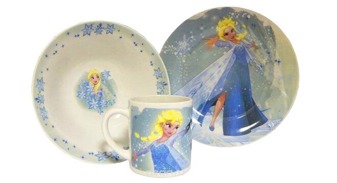 Disney Набор детской посуды «Холодное сердце Эльза» . Подарки на Новый год для девочек
