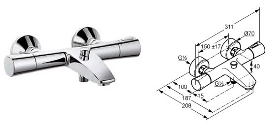KLUDI Zenta 35101 0538, Лучшие смесители для ванной комнаты.