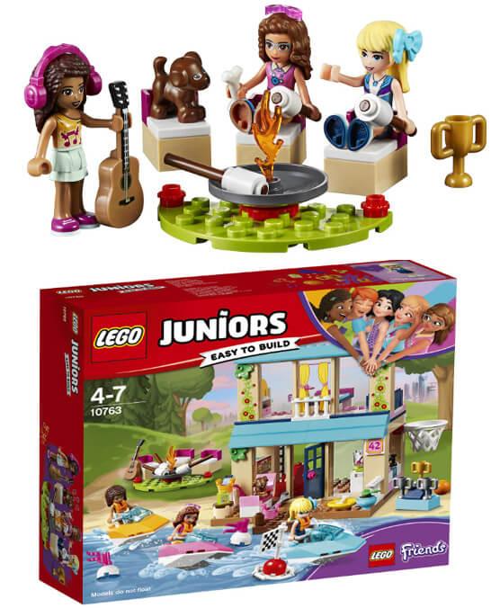 LEGO Juniors 10763 «Домик Стефани у озера» 4 - 7 лет,  Подарки на Новый год для девочек